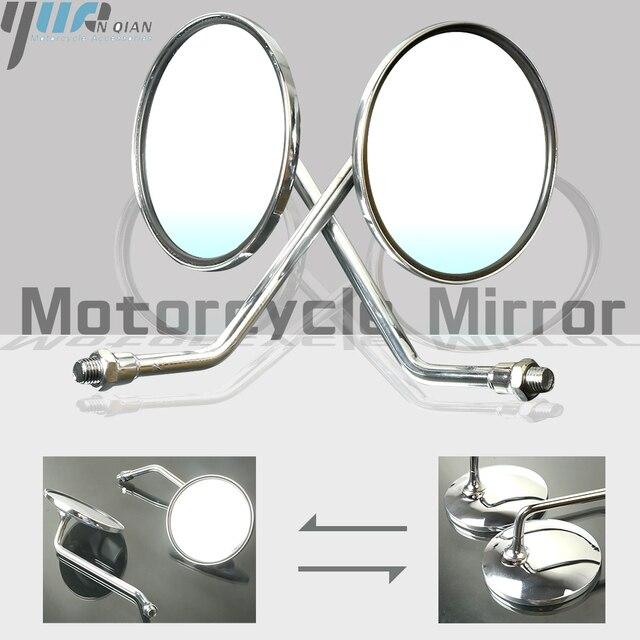 Bir Çift Motosiklet Dikiz Aynası, Arka Yan Aynalar Için Evrensel Yamaha AT1 125 1969 1971 AT1M Motokros 1970 AT2 125 1972
