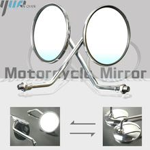 One Pair Motorcycle Review Mirror Rear Side Mirrors Universal For Yamaha AT1 125 1969 1971 AT1M Motorcross 1970 AT2 125 1972