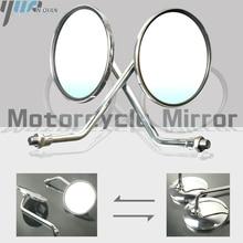 Um Par de Motocicleta Revisão Espelho Rear Side Espelhos Universal Para Yamaha AT1M Motorcross 1970 AT2 AT1 125 1969 1971 125 1972