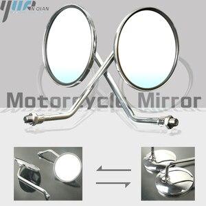 Image 1 - Um Par de Motocicleta Revisão Espelho Rear Side Espelhos Universal Para Yamaha AT1M Motorcross 1970 AT2 AT1 125 1969 1971 125 1972