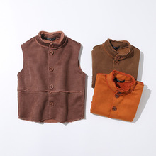 New children's  stand collar warm vest. Boys   Single-breasted jacket.  kids vest tops stand collar single breasted blazer