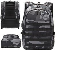 Camouflage Travel Rucksack USB Headphone Jack laptop Bag Men's Battlefield Backpack Multifunction High Capacity Bag