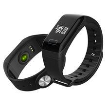 b5a3bb43d92f T1 inteligente reloj para hombre Deporte podómetro del ritmo cardíaco  presión arterial pulsera rectángulo marcado IP67