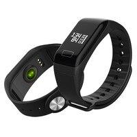 T1 Smart reloj para hombre Deporte podómetro del ritmo cardíaco Presión arterial pulsera rectángulo marcado IP67 impermeable cronómetro para Android ios