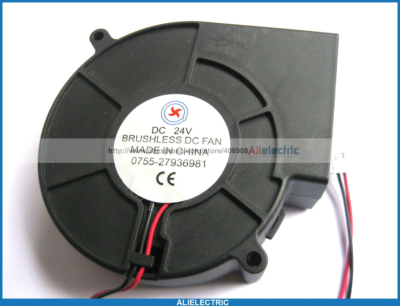 4 x Brushless DC Cooling Blower Fan 9733 24V 9733s 2pin nmb 3610kl 05w b49 9225 24v 3 wire cooling fan blower