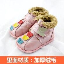 TipsieToes Marque Top Qualité En Cuir Véritable Laine Enfants Chaussures Pour Garçons Et Filles Enfants Automne Hiver Neige Bottes 22414