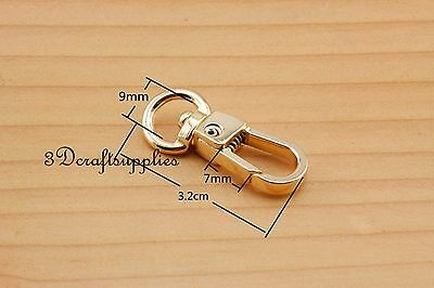 Lobster Clasps Clips Claw purse hooks Swivel snap hook gold 9 mm 10pcs AT94 owner 52567 16 hooked snap swivel 9 шт