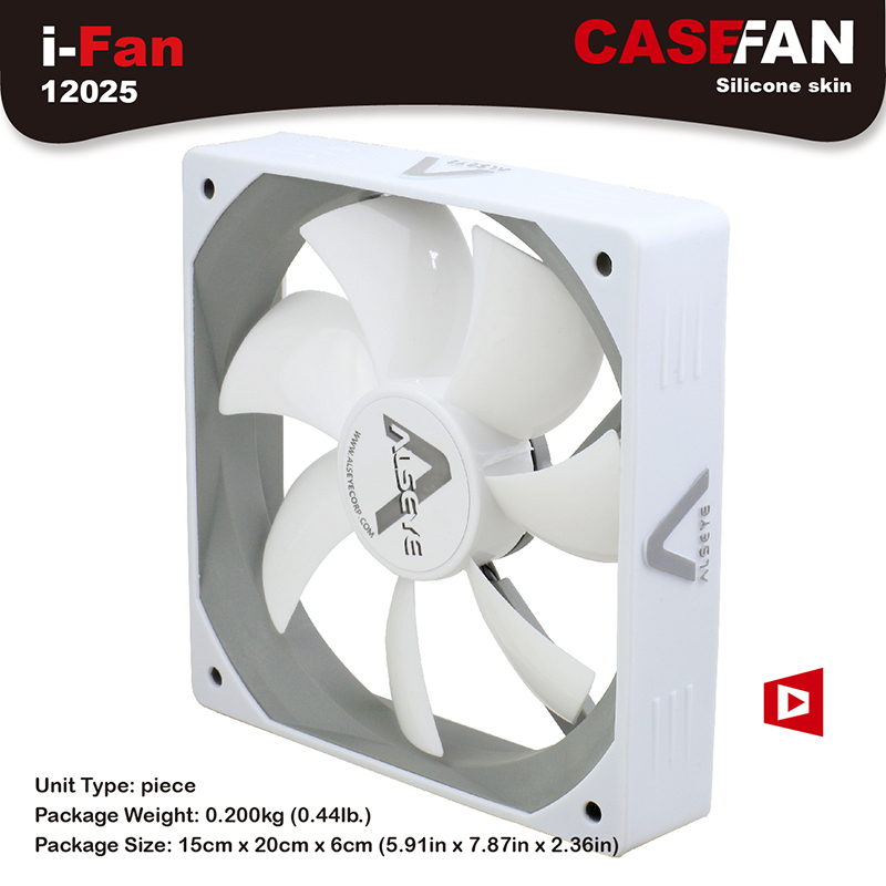 ALSEYE i-Fan 120mm Computer White Fan Cooler DC 12V 3pin 1500RPM CFM 64.5 Quiet Case Cooling Fans alseye led fan for cpu cooler pc case 120mm computer fan dc 12v 1300rpm cooling fans 4 color available