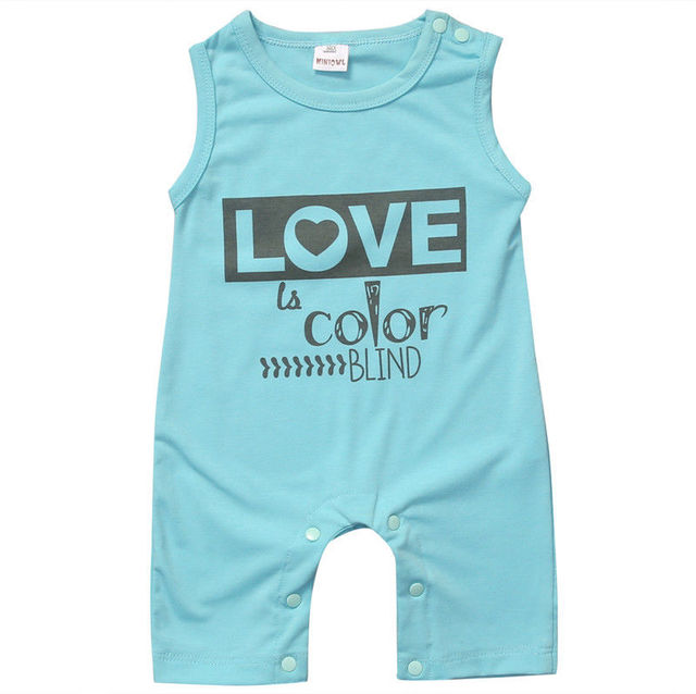 d3ff133c6f7dc 2017 blue o-neck letter cotton shortsleeves Cute Newborn Baby Boys Girls  Infant Jumpsuit Bodysuit Clothes Outfits New