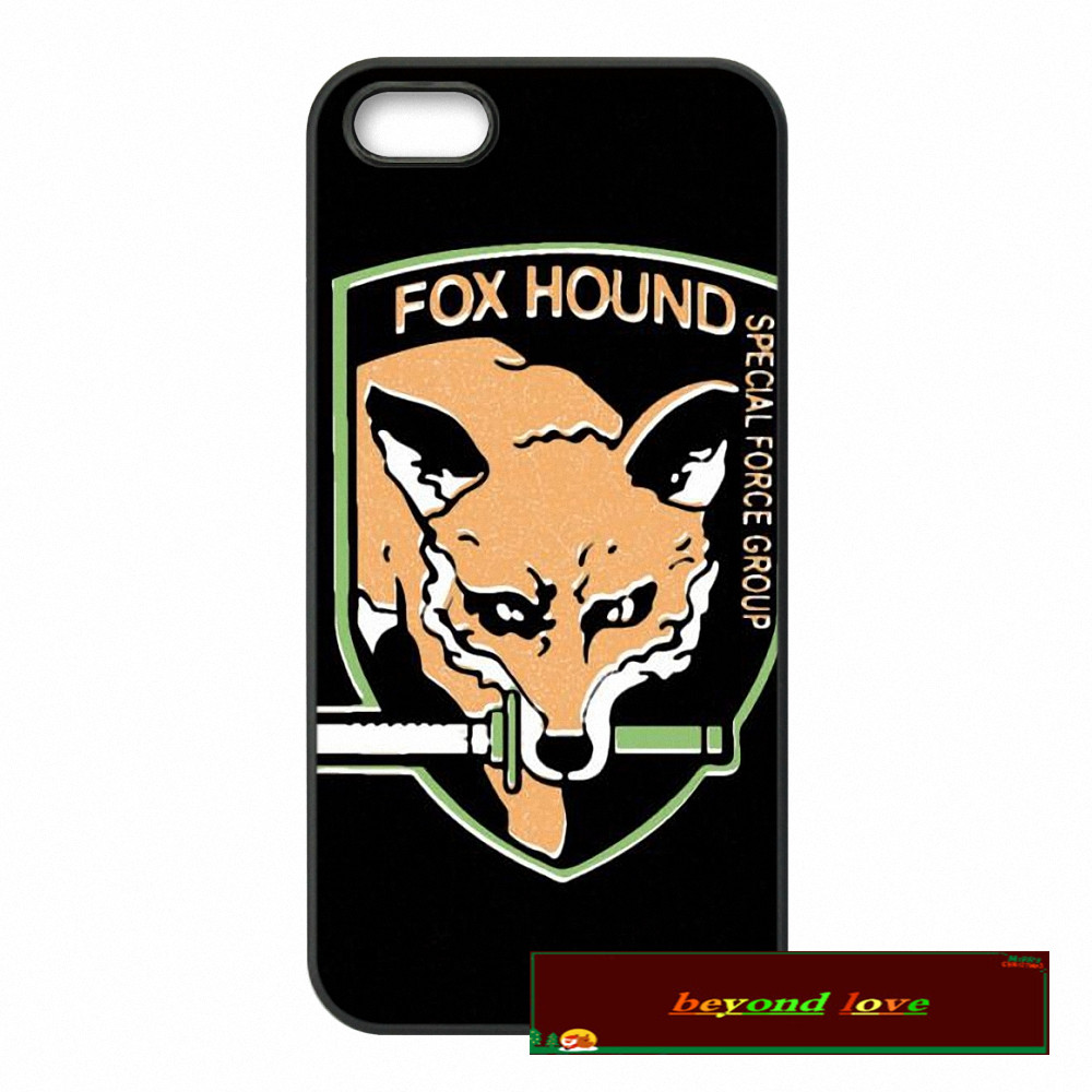 Metal Gear Solid Fox Hound Phone Cases Cover For iPhone 4 4S 5 5S 5C SE 6 6S 7 Plus 4.7 5.5 UJ0572