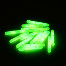 100pcs or 200pcs 4.5*37mm Fishing Fluorescent Lightstick Float 30m Visible Distance Rod Lights Dark Chemical Glow Stick Fishing