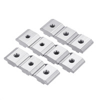 50pcs 30M4 Carbon Steel T Sliding Nut M4 Block Square Nuts For 3030 Series Aluminum Profile