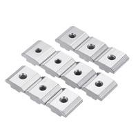 50pcs 30M4 Carbon Steel T Sliding Nut M4 Block Square Nuts For 3030 Series Aluminum Profile