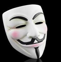 Resin V Vendetta masker Halloween Party Movie Thema