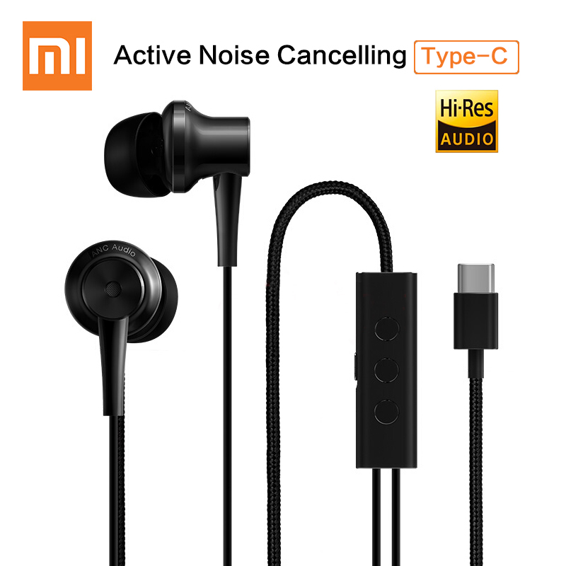 Original Xiaomi ANC Earphone Type-C Noise Cancelling Earphone Wired Control With MIC For Xiaomi Mi6 MIX Max Note2 Mi5 5s Plus все цены