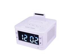 Wireless Bluetooth Speaker USB charging port FM Radio Alarm Clock Charger Speaker remote control for iphone6s Samsung xiaomi