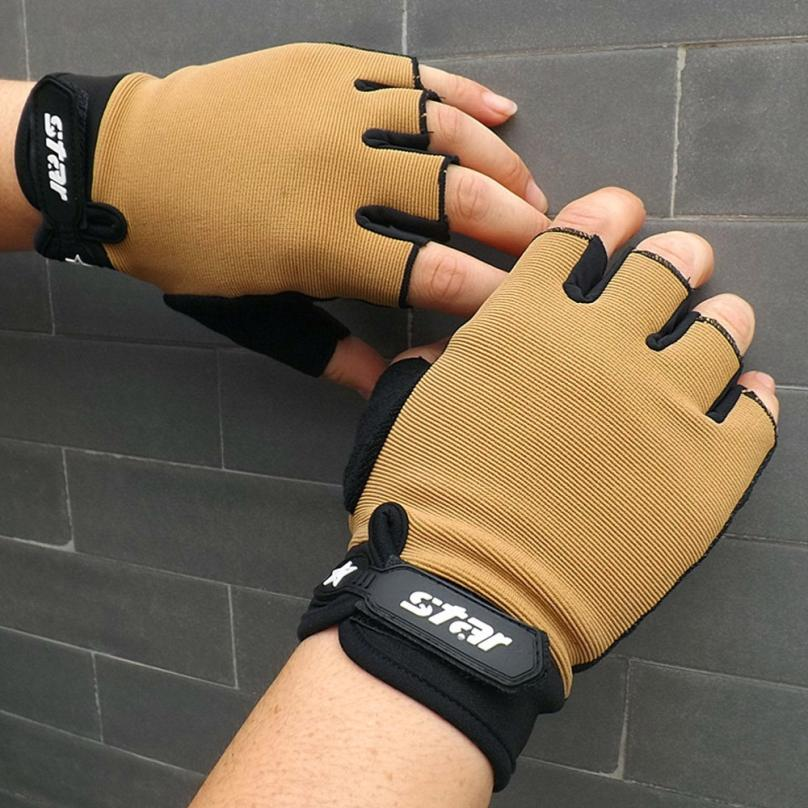 Gloves Weight-Lifting Cycling Sports Gym Fitness Half-Finger 0809 Bike Antiskid Men