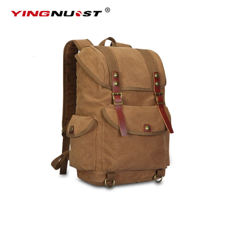 YINGNUOST F04 Multi Functional DSLR SLR Camera Bag Canvas Case Shoulders Backpack 43x33x16 cm caden n5 camera backpack video dslr slr case canvas multi functional camera bags with tripod belt rain cover
