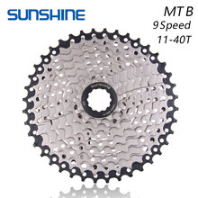 SUNSHINE 9S 11-40T Free Wheels MTB Bicycle Flywheel 9 Speed Cassette flywheel 11-40T Compatible for Parts SHIMANO M390 M3000