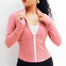 ESHINES Women Long Sleeve Running Jacket Coat Sports Windbreaker Workout Tops Fitness Sportswear Clothes For Spring Autumn X