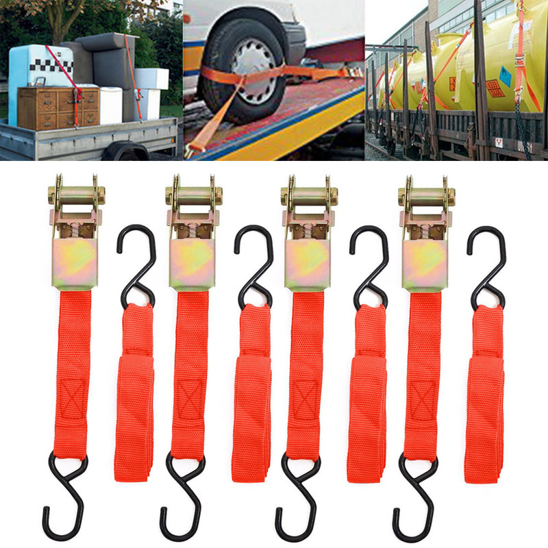 Interior-Accessories Lashing-Package Ratchet Cargo-Straps Tie-Down Secure Webbing Hold