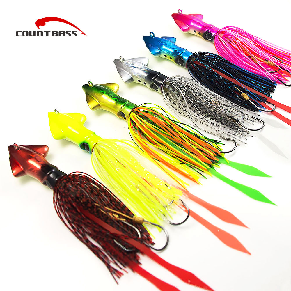 6pcs 90g 3.1oz Countbass Squid Jigging Lures, Salty Rubber Jig, Madai Jigs, Lead Fishing Lure jsm 10pcs plastic hard squid jig lures sea fishing artificial squid jigs bait wood shrimp squid jigging lures fishing hook