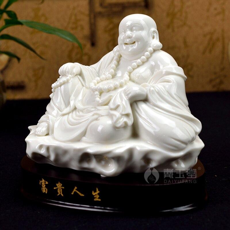 ᐊDAI yutang cerámica decoración ideas de vientre riendo Buda ...