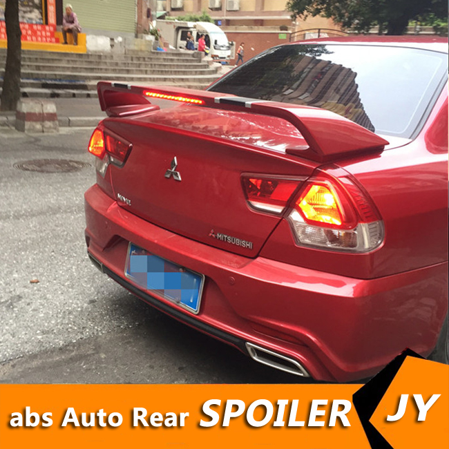 For Mitsubishi V3 Spoiler 2011 2015 V3 spoiler High Quality ABS Material Car Rear Wing Primer Color Rear Spoiler|Spoilers & Wings| |  - title=