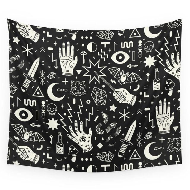 Witchcraft Wall Tapestry Beach Towel Polyester Blanket Yoga Shawl Mat