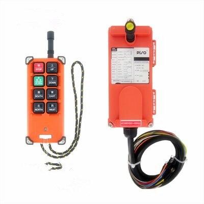 AC 220V 380V 110V DC 12V 24V Industrial remote controller switches Hoist Crane Control Lift Crane 1 transmitter + 1 receiver 12v 24v hs 10 industrial remote control crane transmitter 1pcs transmitter and 1pcs receiver