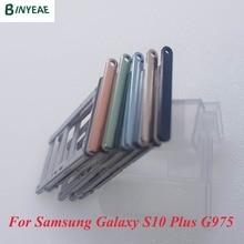 BINYEAE Dual&Single Sim Tray For Samsung Galaxy S10 Plus G975U G975F SM-G975F/DS G9750 G975FD SIM Card Slot SD Holder