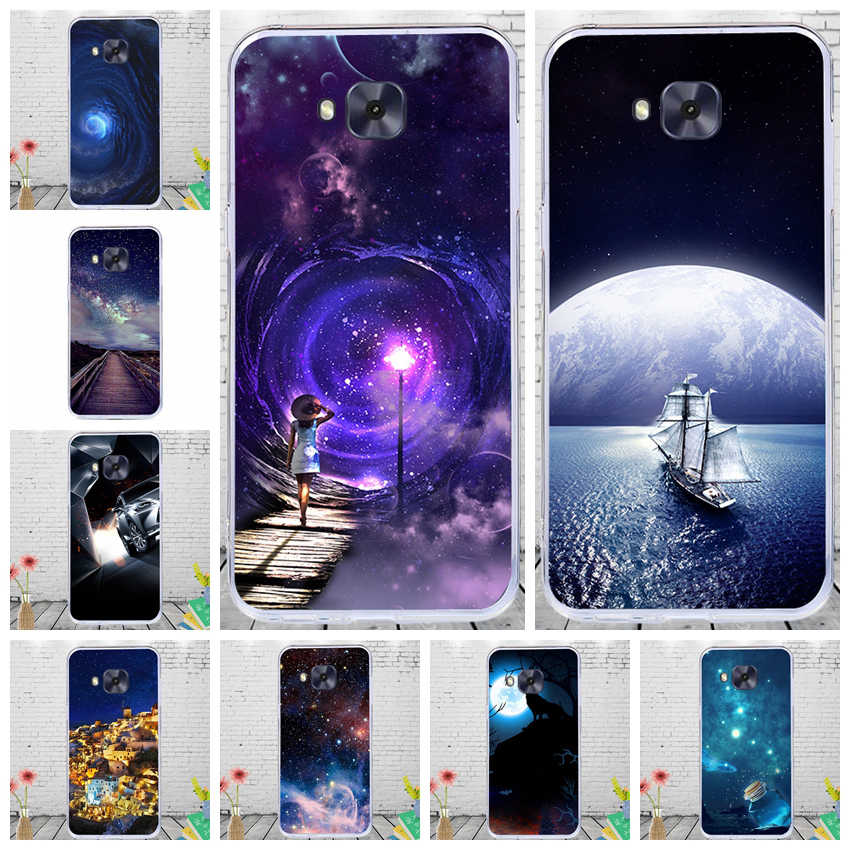 "J&R Phone Cover For Asus Zenfone 4 Selfie ZD553KL Case Soft TPU Silicon For Zenfone 4 Selfie ZD553KL 5.5"" Cases Cartoon"