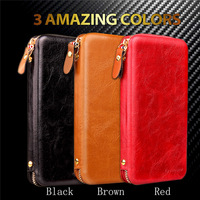 High Quality Large Capacity Universal Wallet Pouch For IPhone 6 7 Cover For Samsung LG Sony