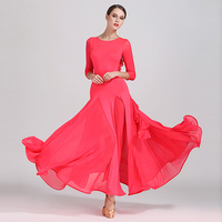 Ballroom Dance Dress Women Milk Silk Flamenco Waltz Dresses Standard Dancewear Performance Wear Ladies Dancing Clothes DNV10179