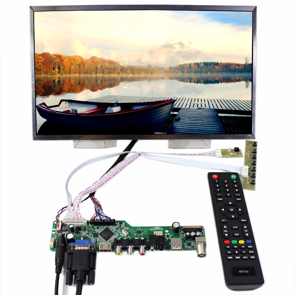 TV HDMI VGA AV USB AUDIO LCD Controller Board+14inch B140RW01 LP140WD1 1600x900 LCD Screen compatible projector lamp for sanyo plc zm5000l plc wm5500l