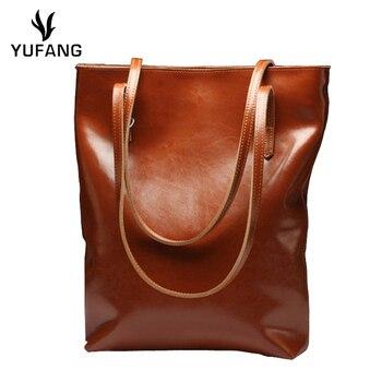 DANJUE New Fashion genuine leather Women Handbag Bags Real Leather Bucket ladies large capacity Bags Cowhide flap