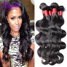Unprocessed 10A Grade  Hair Brazilian Body Wave Human Hair Weave 4 Bundles / lot Natural Black Color King Brazilian Virgin Hair