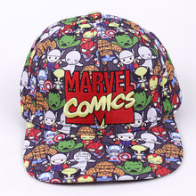 88712e6cbfc29 Marvel Comics The Avengers Men Women 2017 Fashion Baseball Cap Cartoon  Adjustable Snapback Hat Street Hip Hop Caps