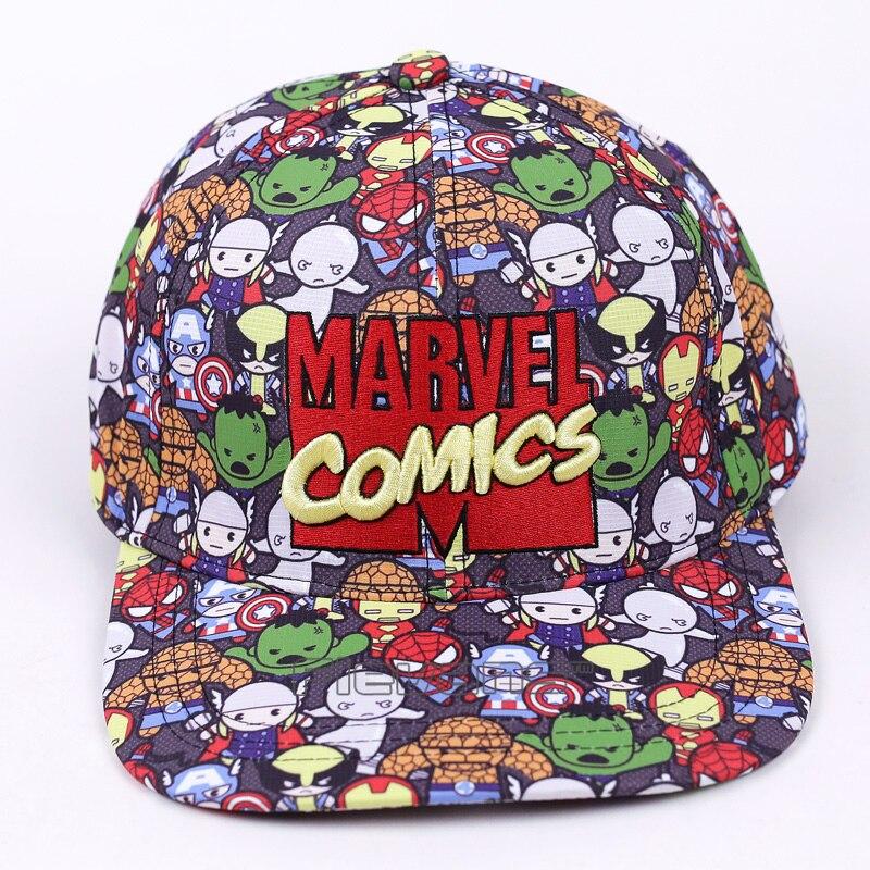 Prix pour Marvel comics the avengers hommes/femmes 2017 mode casquette de baseball de bande dessinée réglable snapback chapeau rue hip hop caps