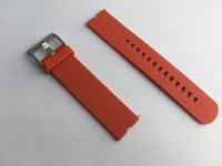 1pcs Lot 22mm Watch Band Rubber Band For Moto360 Smart Watch Moto 360 Rubber Band Tangerine