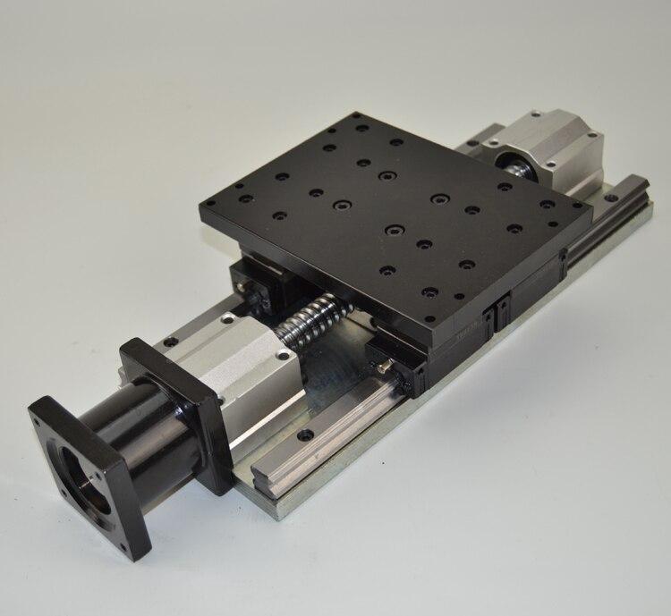 Cnc Электрический слайдер 1605 шариковинтовой ползунок стальная рама тяжелые нагрузки z оси инсульта 100 мм линейный гида