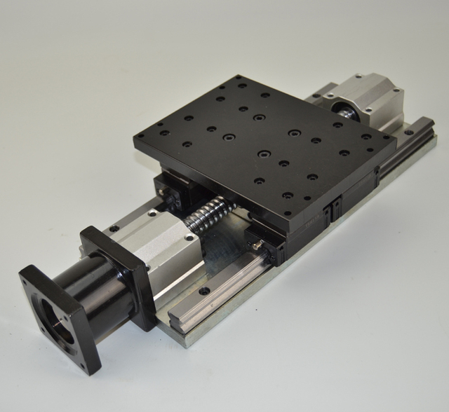 cnc  Electric slider 1605 Ball screw linear slider steel frame heavy load z axis stroke 100mm linear guider