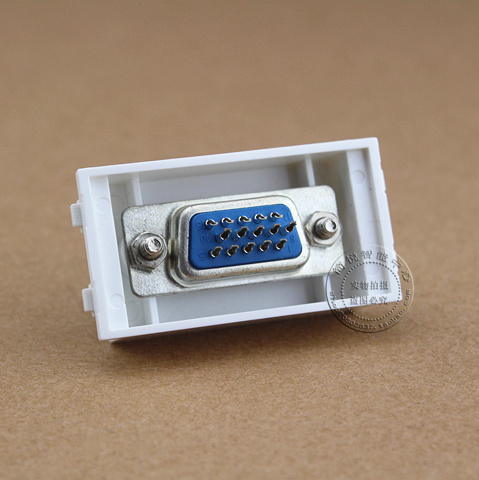 128 Type 15 Hole VGA Information Module Connector Socket Computer Outlet Adapter