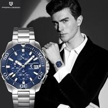 Relogio Masculino PAGANI DESIGN Men Top Stainless Steel Multifunctional Men Watches Luxury Brand motion Quartz Watch