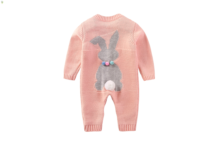 Boys girls rompers spring autumn woolen pink green beige romper baby casual newborn knitted long sleeve o-nec clothes kids 6-12M baby rompers o neck 100