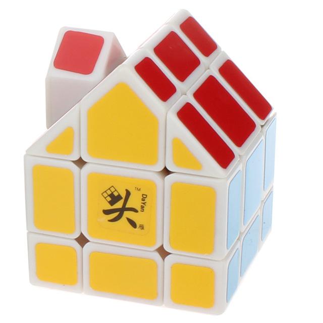 Dayan Bermudas House Cubo Mágico Blanco y Negro PVC y Mate Pegatinas Cubo Mágico Puzzle Juguetes Clásicos Regalos de Envío Gratis