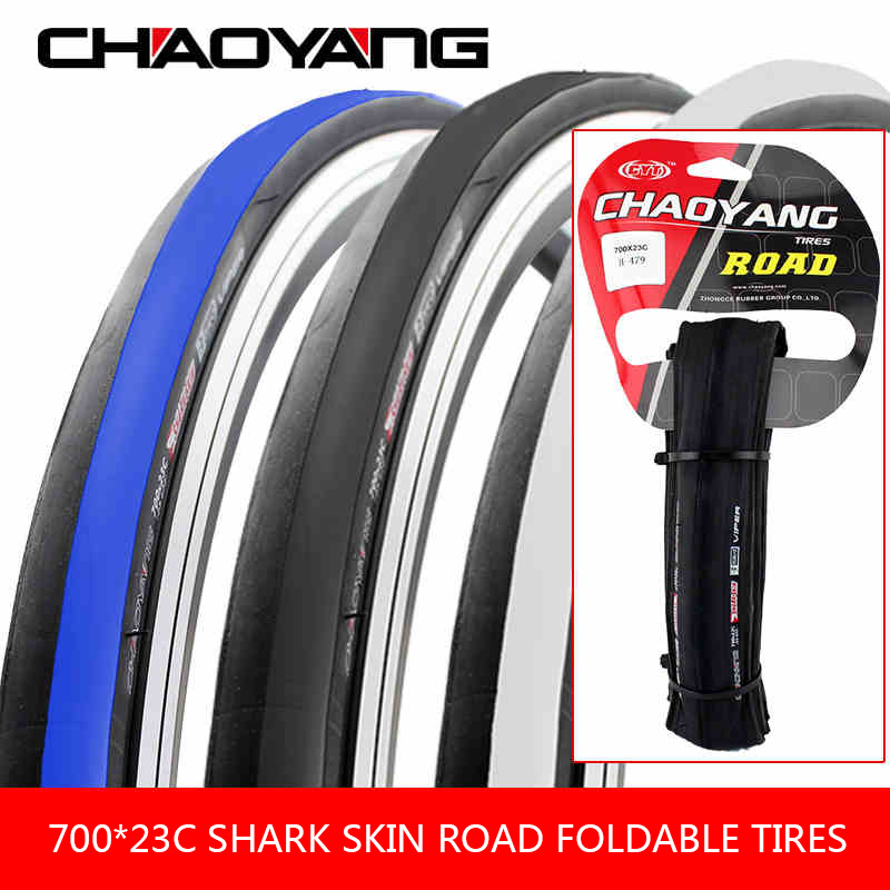 CHAOYANG Foldable Cycling Tires 700*23c Shark Shin Road Bike Tire Puncture-proof 270g Ultralight City Bicycle Wheel Tire 60TPI
