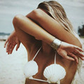 Fashion Sexy Big Shell Bra Body Chain Women Body Jewelry Natural Shell Harness Boho Bra Necklace Women Summer Bohemian Bikini