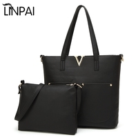 Мода V стиль 2 шт Для женщин сумка Курьерские сумки кожаные Сумки Малый Сумки через плечо Сумки на плечо Композитный сумка для дам