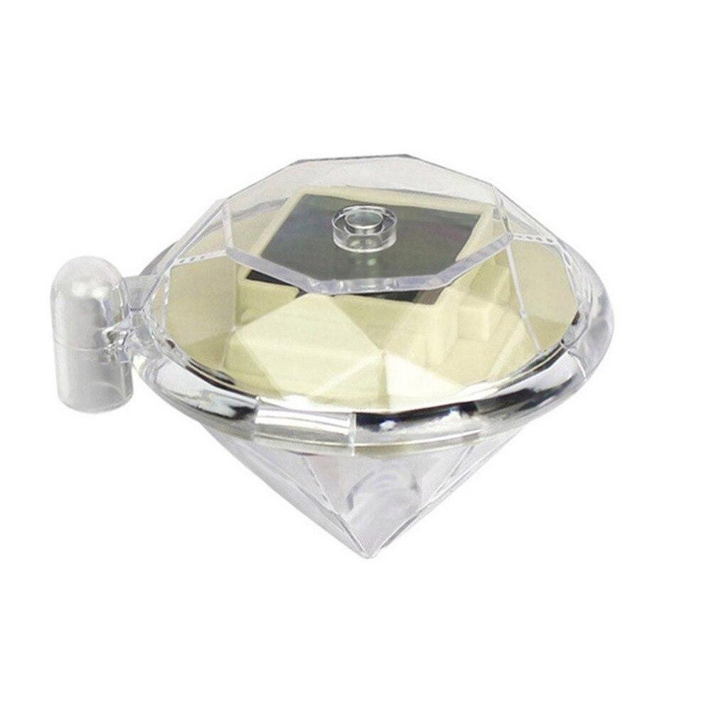4pcs/set Diamond Shape LED Solar Powered Lamp Outdoor Lawn Lights for Pedestrian Pathway Garden Villa Decoration